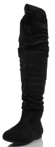 de Breeze vestido mujer botas Black Para Negro Suede Premium Nature EUpqq