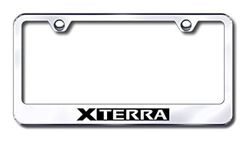 Xterra Brushed Stainless Steel License Plate Frame Automotive Gold