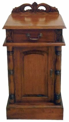 low priced 66010 bec3b Victorian Design Solid Mahogany Bedside Table Cabinet 1 ...