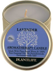 Plantlife Lavender Aromatherapy Candle-Made with 100% Pure Essential Oils - 3oz Tin