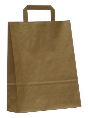 Piatto Nastro Adesivo Sacchetti di manico, 26cm di larghezza marrone Forza Sacchetti di carta, Internal Tape manico, 250fogli