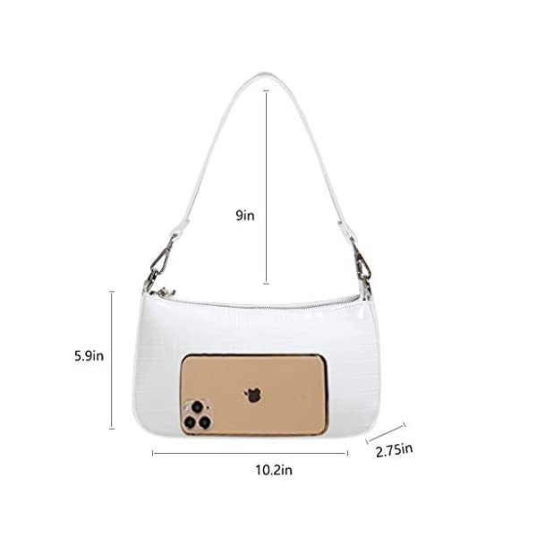 NIUEIMEE ZHOU Small Shoulder bag with 2 Removable Straps Cross Body Clutch Purse Handbag for Women
