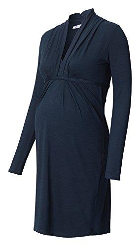 Queen Mum - Vestido - vestido - Manga Larga - para mujer Dark Blue (360)