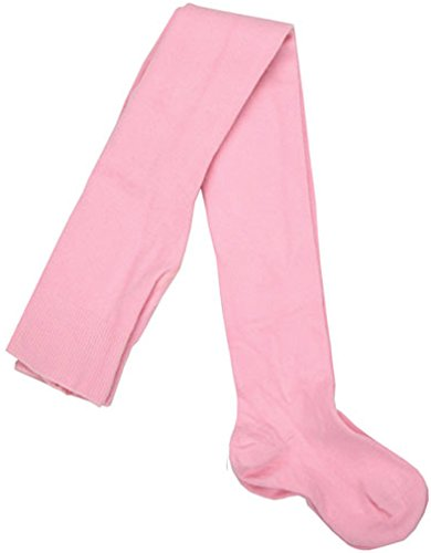 Tic Tac Toe Pink Seamless Toe Cotton Tights, Girls, 2-4 (Tic Tac Toe Cotton Tights)