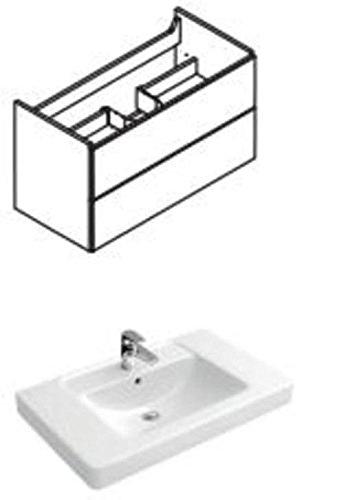 Lanzet C7 Waschtischunterschrank 125 cm für Waschtisch Subway 2.0 130 cm 7176D001 weiß,S7176D001