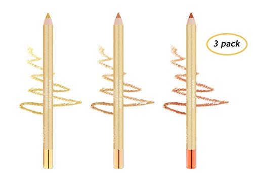 (Golden Rose Diamond Breeze Shimmering Eye Pencil Set of 3)