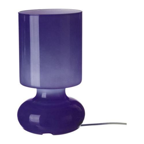 Ikea nachttischlampe  IKEA Lykta Lila Tischleuchte Tischlampe Lampe Leuchte Glas Lila ...