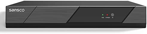 True HD 1080p SANSCO CCTV Security System 8 Channel 1080p Surveillance DVR Standalone Recorder, Instant Remote Viewing, Smart Motion Detection Push Alerts, No Hard Drive