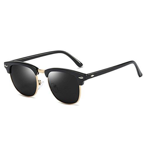 para Negro de sol Mini Gafas Tree hombre Gris nxAqIIYZW