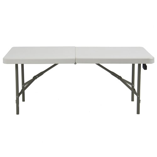 Best Choice Products Folding Table Portable Plastic Indoor