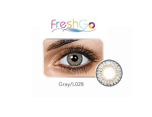 Case for Color Contacts Eye Lenses FreshGo Cosmetic Makeup Lens Last 1 Month!   (Sterling Gray