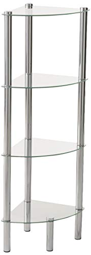 Home Basics SA10122 Shelf Corner Glass, 4-Tier