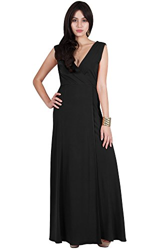 1091819845d Viris Zamara Plus Size Womens Long Wrap Side Slit V-Neck Sexy Sleeveless  Bridesmaid Prom Cocktail Spring Summer Elegant Flowy Pleated Semi Formal  Gown Gowns ...