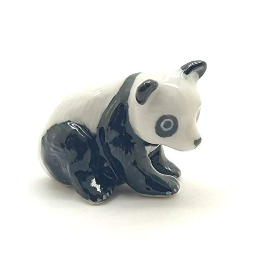 Grandroomchic Dollhouse Animal Miniature Handmade Panda Bear Porcelain Statue Antique Ceramic Decorative 1/24 Scale Figurine Collectibles Gift Collectors from Grandroomchic