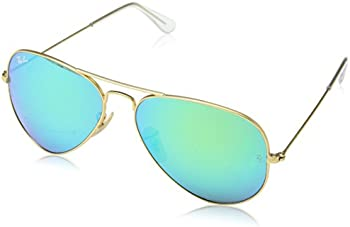 Ray-Ban Men's Mirrored Aviator Gold Aviator Sunglasses