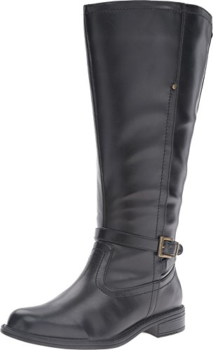 David Tate Women's Valley 18 Casual Boots, Black Leather, 8 WW