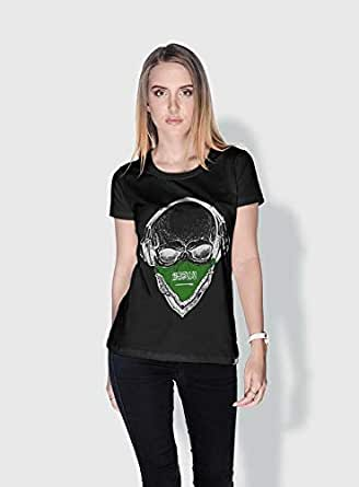 Creo Saudi Skull T-Shirts For Women - S, Black