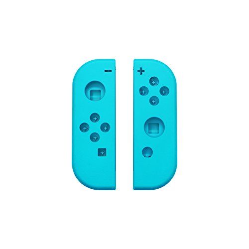 Hisonders Replacement Faceplate Handle Shells Case Cover & Battery Middle Plate Frame Replacement for Nintendo Switch Joy-Cons (L/R) - Blue