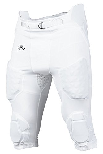Rawlings Sporting Goods Boys D-Flexion Integrated Football Pants, X-Large, White - Rawlings Football Pants