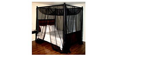 Epoch Hometex Palace FourPoster Bed Canopy Black