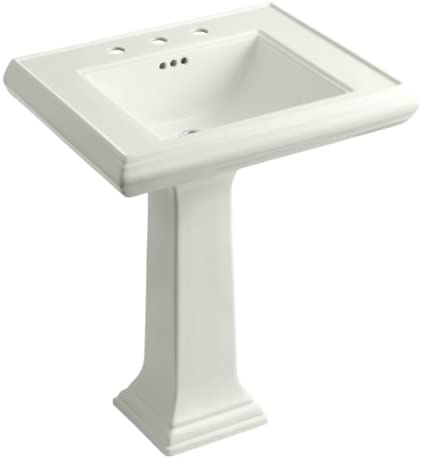 KOHLER K-2258-8-NY Memoirs Pedestal Bathroom Sink with 8 Centers and Classic Design, Dune
