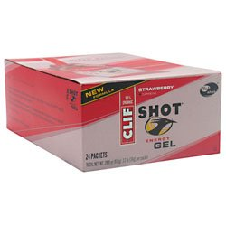 Clif Shot Energy Gel Strawberry 24-1.2 oz (34g) packets