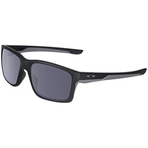 Oakley Men's Mainlink Rectangular Sunglasses, Matte Black w/Grey, 57 - Frame Oakley X