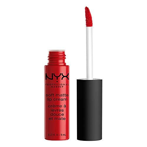 Red Lip Gloss - NYX Soft Matte Lip Cream, Amsterdam