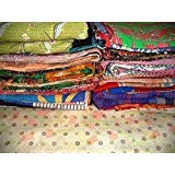 DIYANA IMPEX Wholesale Lot of Vintage Handmade Kantha Quilts,Reversible Throws (LOT of 5)