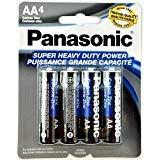 4pc Panasonic AA Batteries Super Heavy Duty Power Carbon Zinc Double A Battery 1.5v