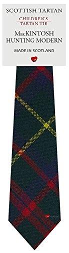 Boys Clan Tie All Wool Woven in Scotland MacKintosh Hunting Modern - Tie Mackintosh