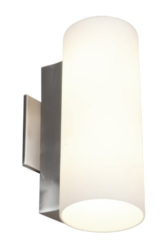 Access Lighting 50183-BS/OPL Tabo?Wall and Vanity with Opal Glass Shade, Brushed Steel Finish by Access Lighting