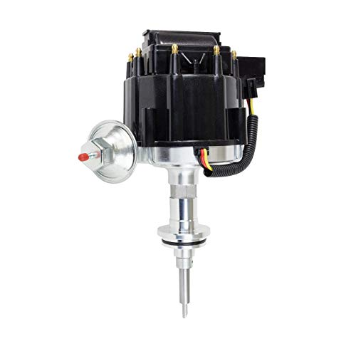 A-Team Performance 65K COIL Black Cap HEI Complete Distributor Compatible with Mopar, Chrysler, Dodge, Plymouth V8 Engines 273 318 340 340 360 One Wire Installation
