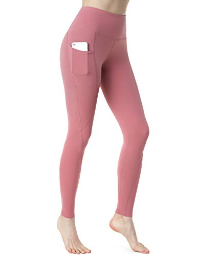 - TSLA TM-FYP74-PPK_Medium Nyloskin Yoga Pants High-Rise ATY Tummy Control w Side Pockets FYP74