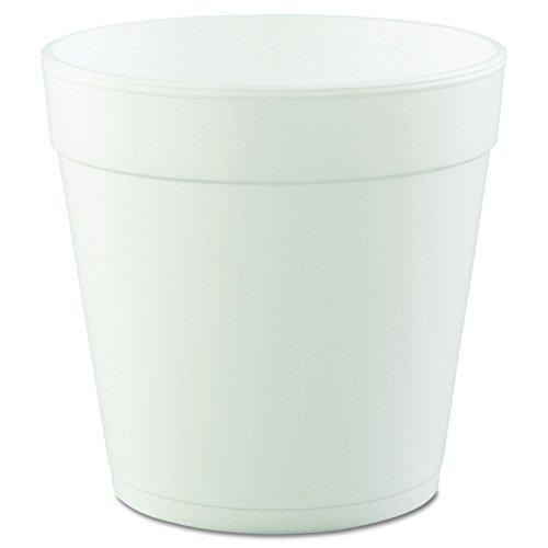 Dart 32MJ48 32 oz Squat Foam Container (Case of 500) ()