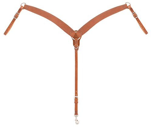 ons Contoured Ring-in-Center Breast Collar, Golden Brown (Harness Horse Equipment)