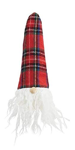Bearded Gnome Tartan Plaid Holiday Wine Bottle Topper