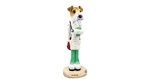 Amazon.com: Wire Fox Terrier Rojo Enfermera Doogie ...