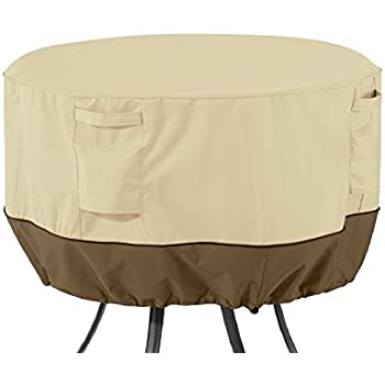 Classic Accessories Veranda Round Patio Table Cover   Durable And Water  Resistant Patio Set Cover,