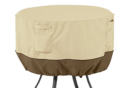 Classic Accessories Veranda Round Patio Table Cover - Durable and Water Resistant Patio Set Cover, Medium (55-568-011501-00)