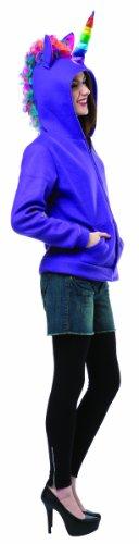 Rasta Imposta Juniors Hoodie Unicorn, Purple/Multi, One Size (Costume Imposta Rasta Fairy)