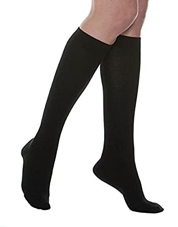 medium Maxar silver fiber cotton compression support socks black unisex