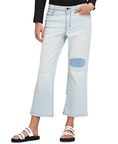 DKNY Womens Denim Light Wash Flare Jeans Blue 27