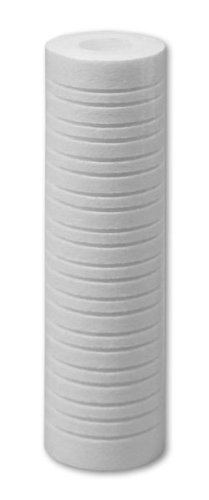 4 pk 10''x2.5'' 1 Micron Grooved Sediment Melt Blown Filters Cartridges (Compatible Replace Aqua-Pure AP1001, Aqua-Pure AP109, Watts FPMBG-1-975) by No Company Markings