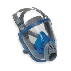 MSA Safety 10031342 Hycar Advantage 3100 Facepiece with European Head Harness, Medium, Black