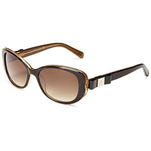 Kate Spade Women's Chands Cat-Eye Sunglasses,Havana Gold,53 mm