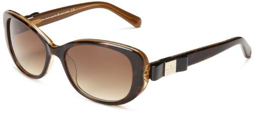Kate Spade Women's Chands Cat-Eye Sunglasses,Havana Gold,53 - Eye Rounded Cat Sunglasses