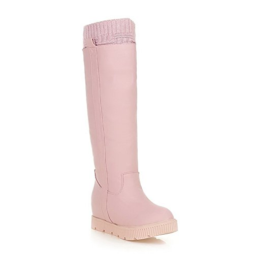 Toe Pull Boots Soft Round On Platform A Pink amp;N Material Girls qgzfH