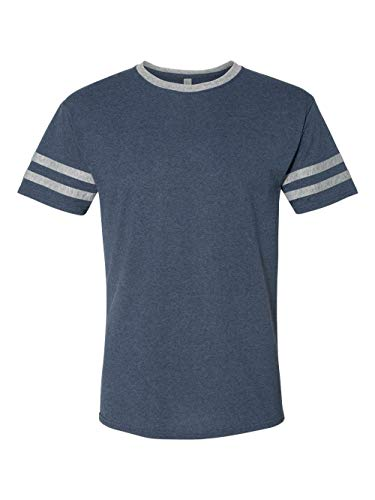 Jerzees Ringer Tee - Jerzees Mens TRI-Blend Varsity Ringer T-Shirt (602MR) -Indigo HTH -2XL