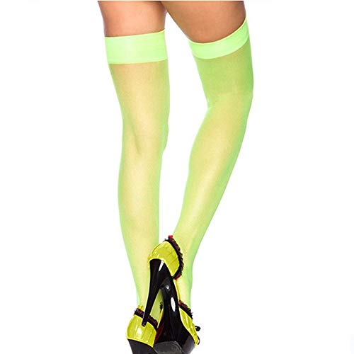Women Lace Top Thigh-High Silk Stockings Above Knee Sock Pinkycolor by - Above Leather